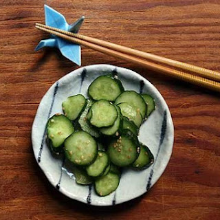 Easy Japanese Pickled Cucumber.