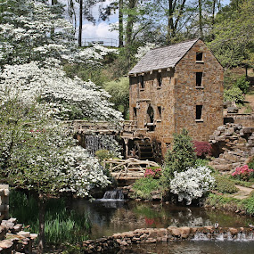 The Old Mill by Brenda Hooper - Buildings & Architecture Public & Historical ( north little rock, building, old mill, historical, arkansas,  )