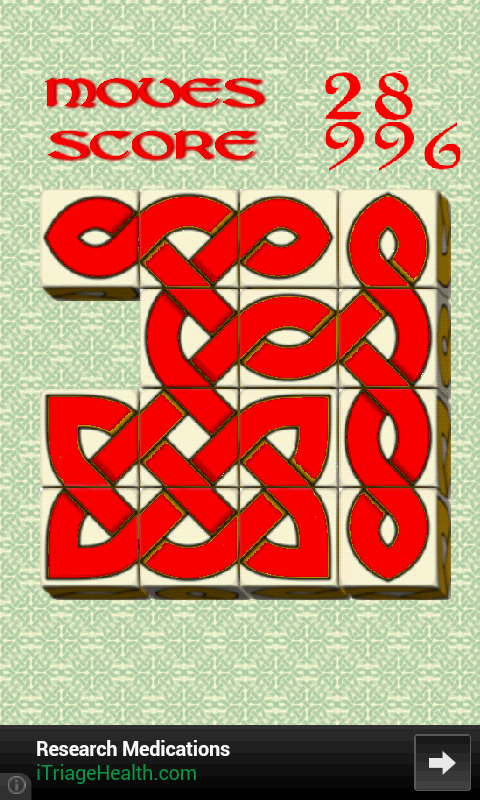 Oxvo, celtic slide puzzle - screenshot