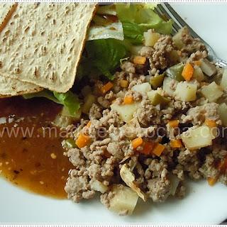 Potato and Carrot Picadillo (Stew).