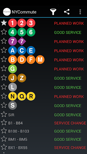 NYCommute - Service Status