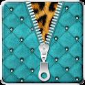 Luxury Teal Zipper Lock Screen icon