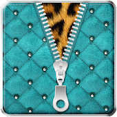 Luxury Teal Zipper Lock Screen