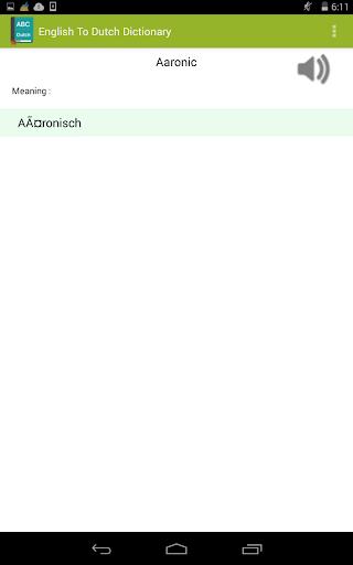 【免費書籍App】English To Dutch Dictionary-APP點子