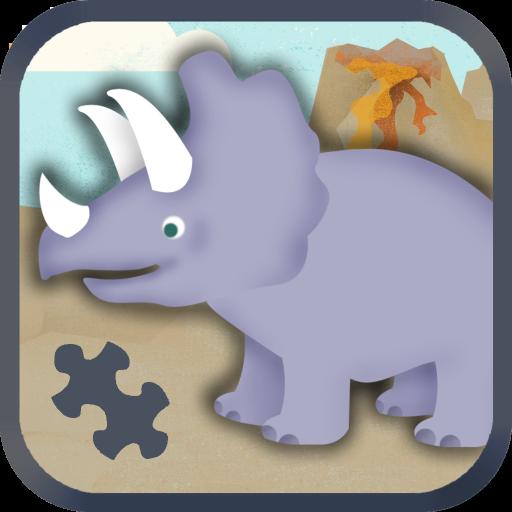 孩子們的恐龍遊戲:幼稚園的可愛恐龍火車拼圖遊戲 教育 App LOGO-APP試玩