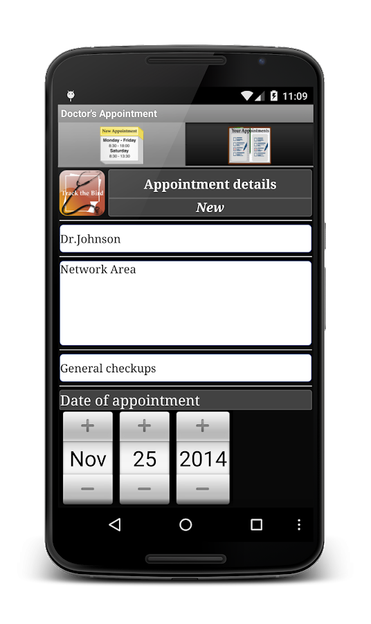 Doctor's Appointment Reminder - screenshot