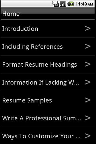 how to write a cv   android apps on google playhow to write a cv  screenshot