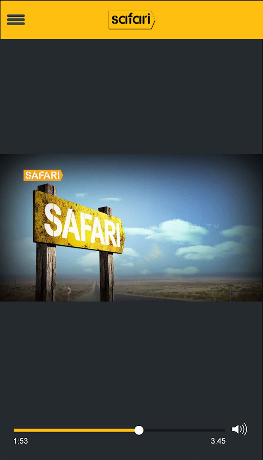 Screenshots of Safari TV for iPhone