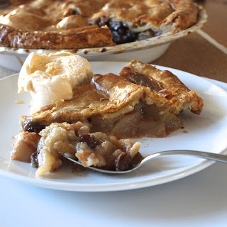Apple Pie with Brandy-Soaked Raisins