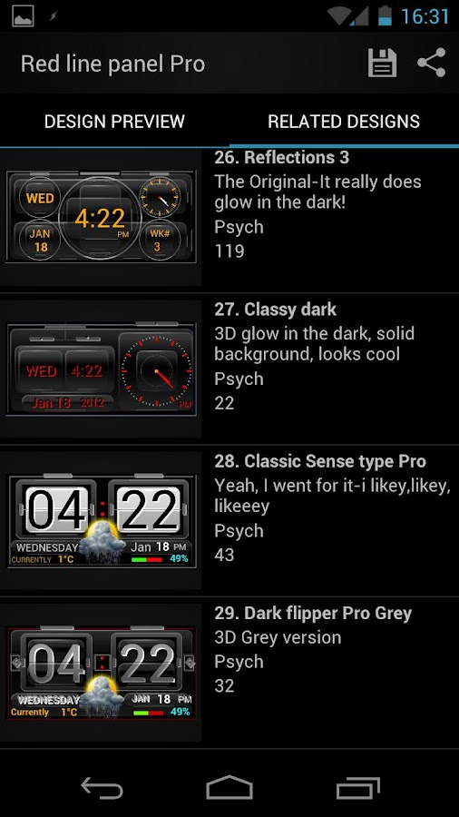 Thousand Clock Widgets- screenshot
