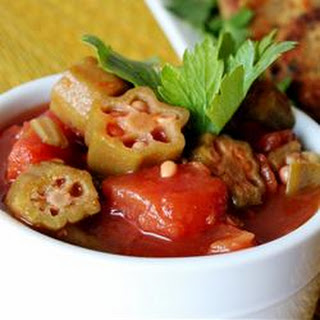 Okra with Tomatoes.