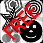 Baby Black & White Shapes Free icon