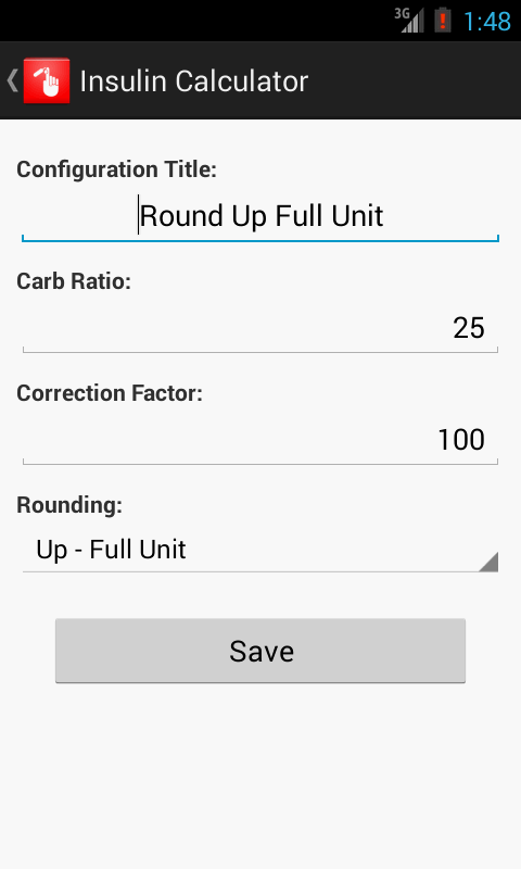 Insulin Calculator- screenshot