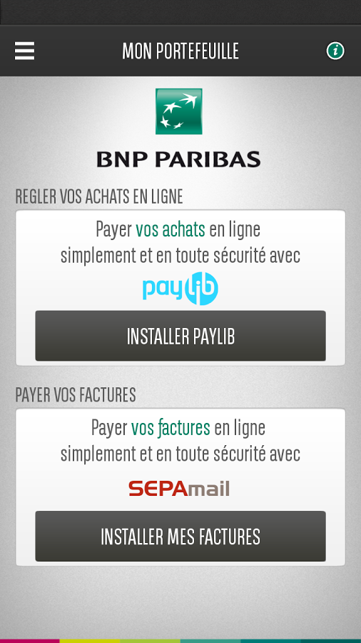 mon portefeuille bnp paribas applications android sur google play. Black Bedroom Furniture Sets. Home Design Ideas