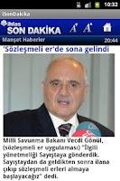 Screenshot of iSonDakika
