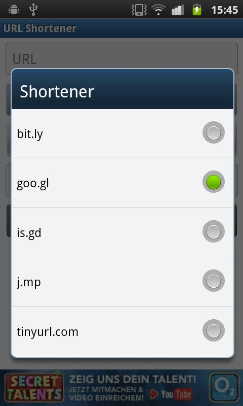 URL Shortener- screenshot