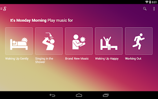 Screenshot of Songza
