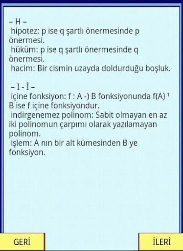 【免費教育App】MATEMATİK SÖZLÜĞÜ KPSS YGS-APP點子