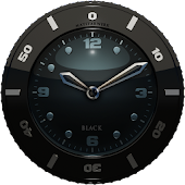 Clock Widget black HQ