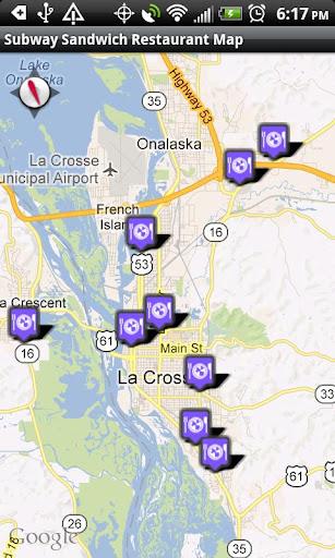 Subway Restaurants Locator
