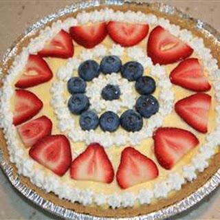 Strawberry Delight Dessert Pie.