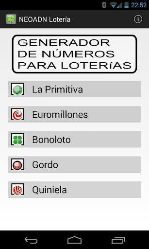 Números aleatorios Lotería
