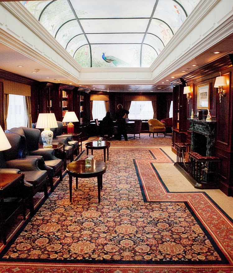 Stop by the Drawing Room to relax or write letters during your Azamara voyage.