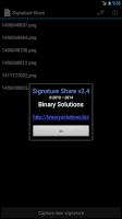Screenshot of Signature Share