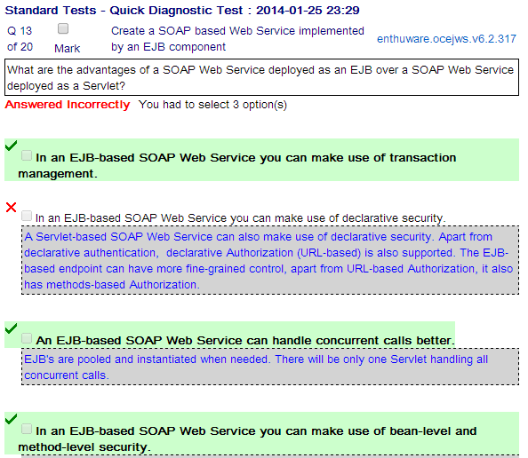 OCE Web Services Certification - screenshot