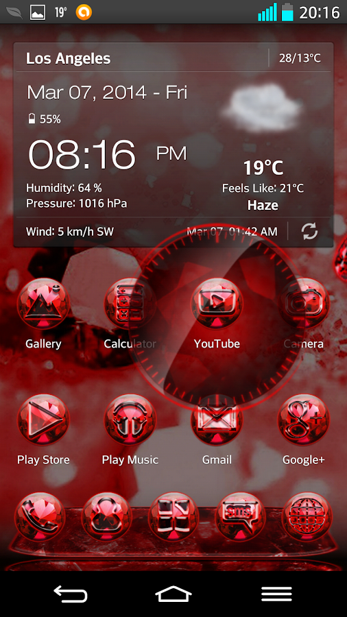 NEXT LAUNCHER 3D THEME RUBIN- screenshot