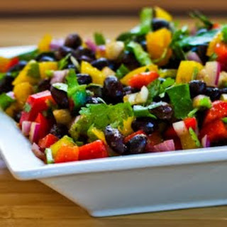 Black Bean and Pepper Salad with Cilantro and Lime Recipe