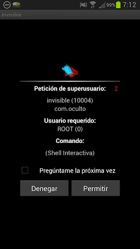 Invisible en red root