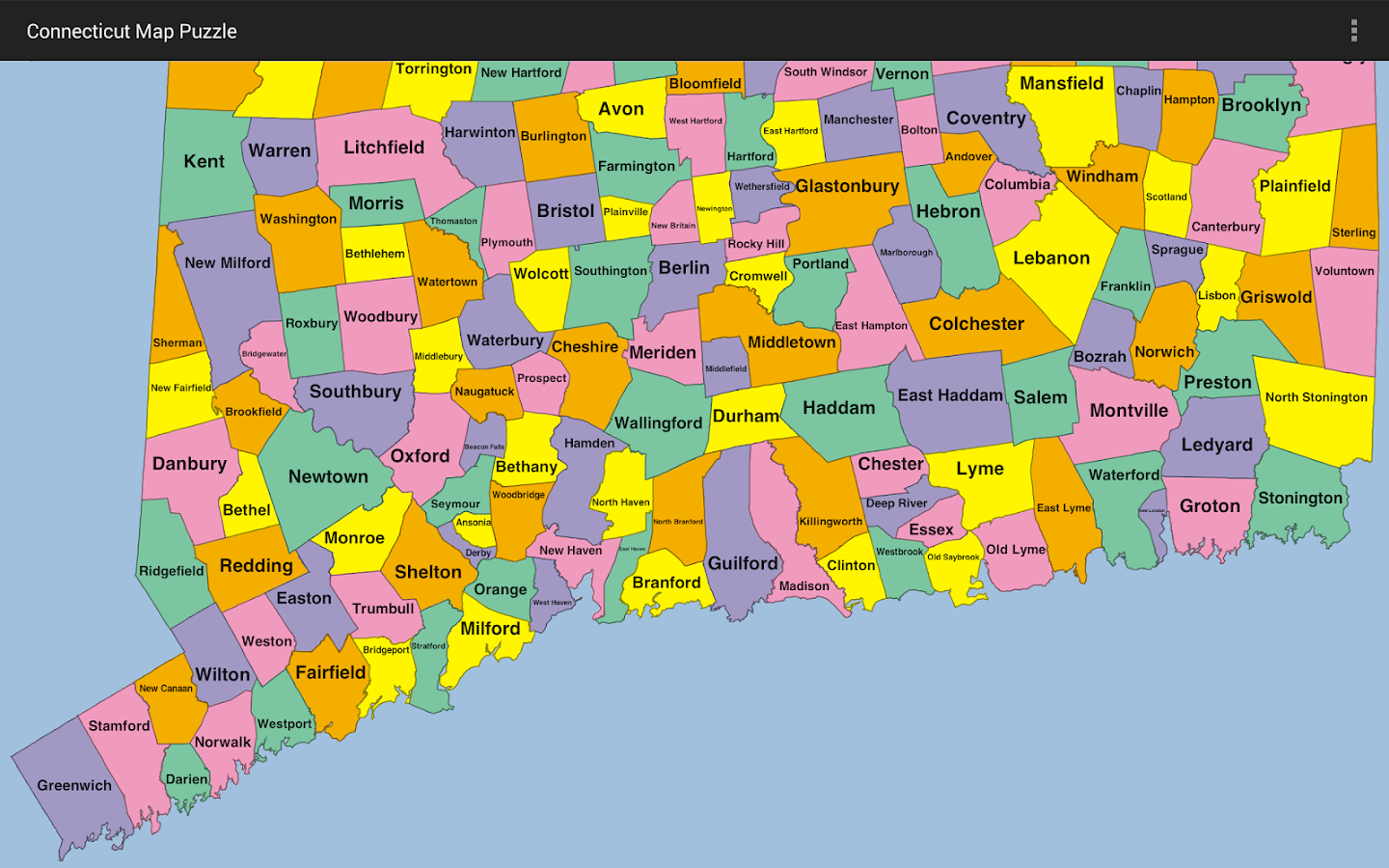Connecticut Map Puzzle Android Apps On Google Play - Chicago map puzzle