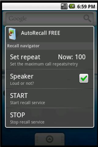 AutoRecall & auto dial, redial - screenshot