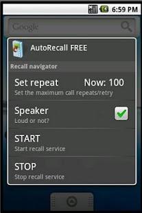 AutoRecall auto dial redial