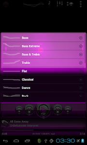 Poweramp skin Pink Glas deluxe v1.33