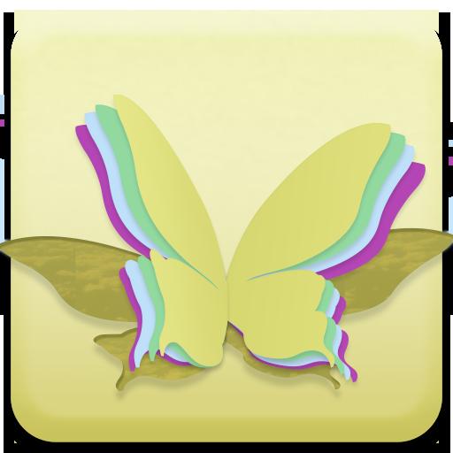 黃蝴蝶動態壁紙 工具 App LOGO-APP試玩