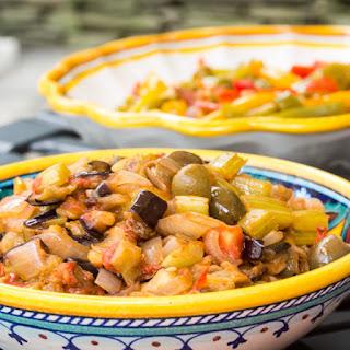 Caponata alla siciliana (Sicilian Eggplant Antipasto).