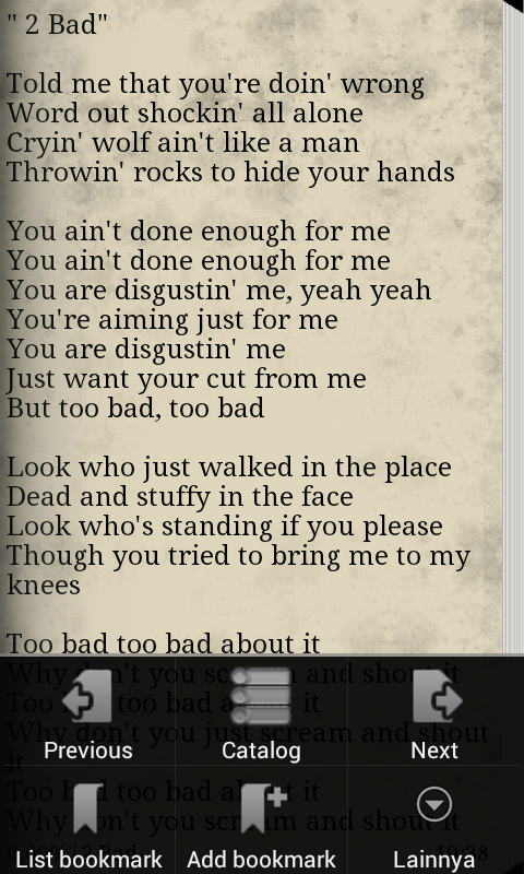 Lyrics Michael Jackson - screenshot