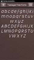 Screenshot of Teenager Font Style