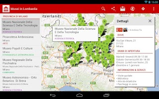 Screenshot of Museums in Lombardy