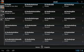 Screenshot of Free Dict Hungarian German