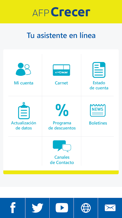 AFP Crecer- screenshot