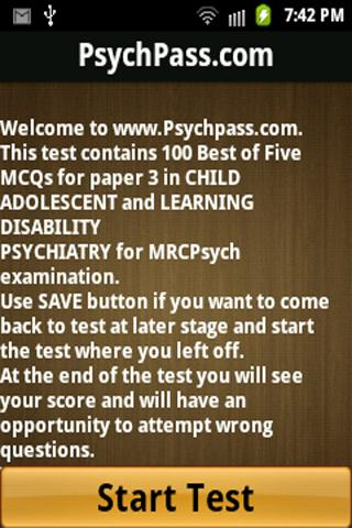 MRCPsych Child LD Paper 3