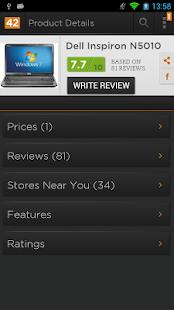 Reviews42 Price Comparison App - screenshot thumbnail