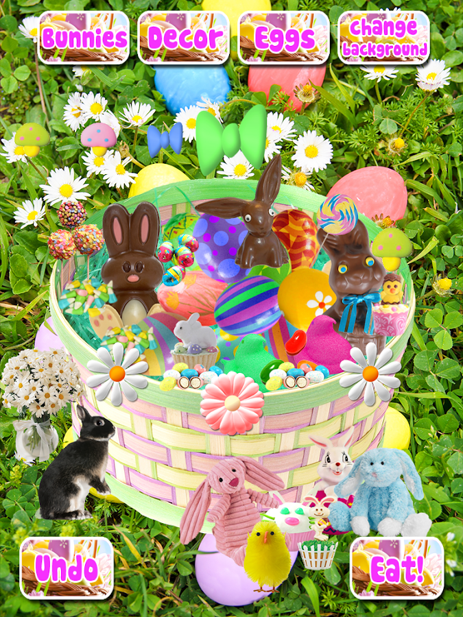 Easter Bunny Basket Maker Candy Decorate Game