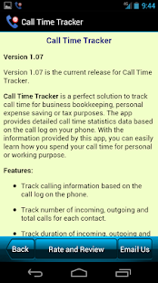 Call Time Tracker+Call Blocker- screenshot thumbnail