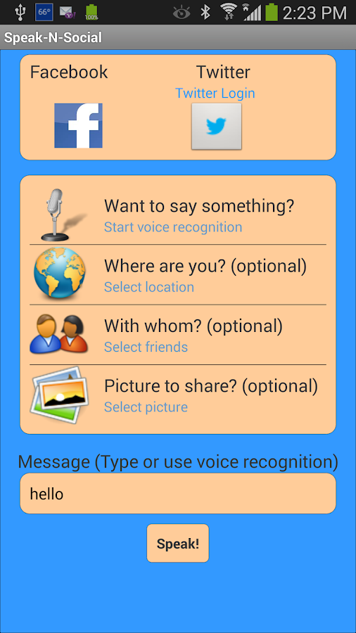 Speak-N-Social- screenshot