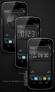 Glass clock. widget. BOX. PRO - screenshot thumbnail
