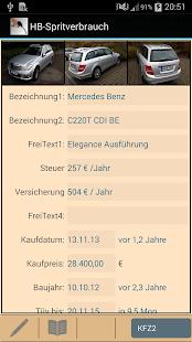 HB-Spritverbrauch Lite - screenshot thumbnail